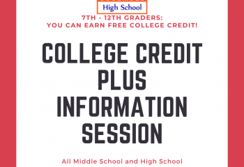 College credit plus information session